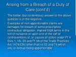 arising from a breach of a duty of care cont d3