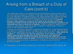 arising from a breach of a duty of care cont d4