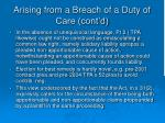 arising from a breach of a duty of care cont d6