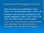 concurrent wrongdoer cont d