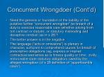 concurrent wrongdoer cont d1