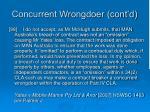concurrent wrongdoer cont d2