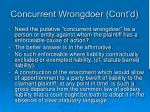 concurrent wrongdoer cont d3