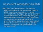 concurrent wrongdoer cont d4