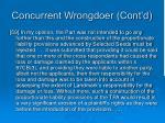 concurrent wrongdoer cont d5