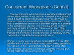 concurrent wrongdoer cont d6