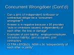 concurrent wrongdoer cont d7