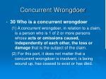 concurrent wrongdoer