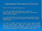 operative provisions cont d