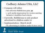 cadbury adams usa llc