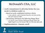mcdonald s usa llc