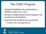 the caru program