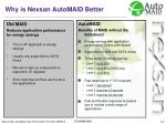 why is nexsan automaid better