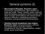 general symtoms 3