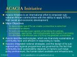 acacia initiative