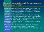 national information and communications infrastructure nici
