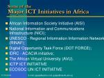 some of the major ict initiatives in africa