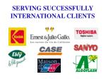 serving successfully international clients