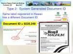 type 2 system generated document id