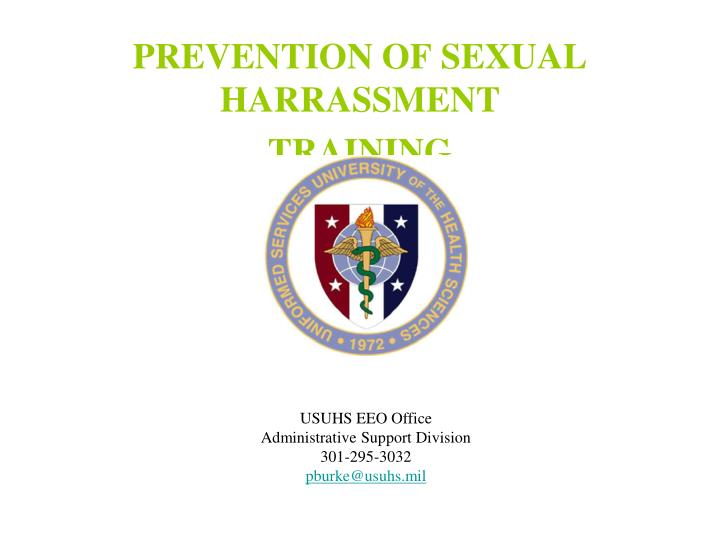 prevention of sexual harrassment training n.