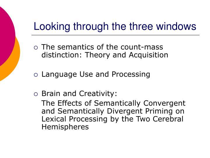 Looking through the three windows