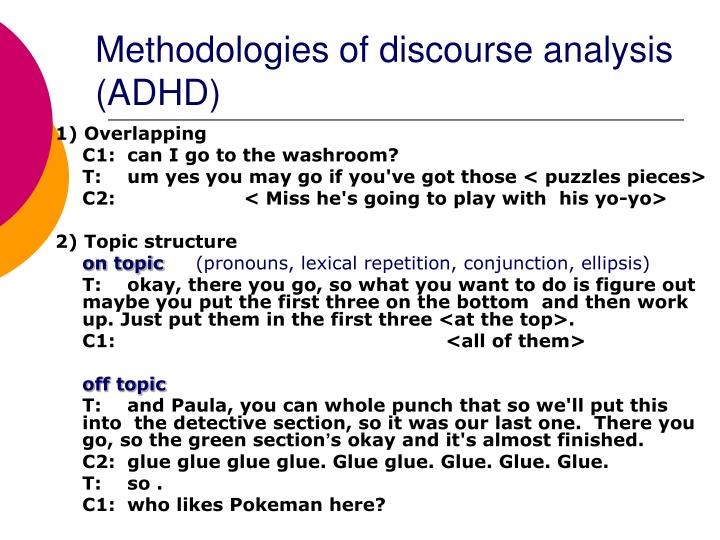 Methodologies of discourse analysis