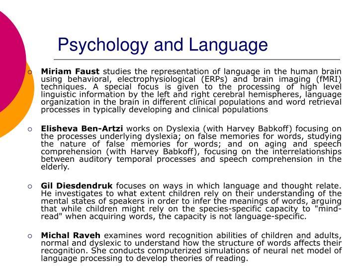 Psychology and Language