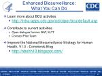 enhanced biosurveillance what you can do