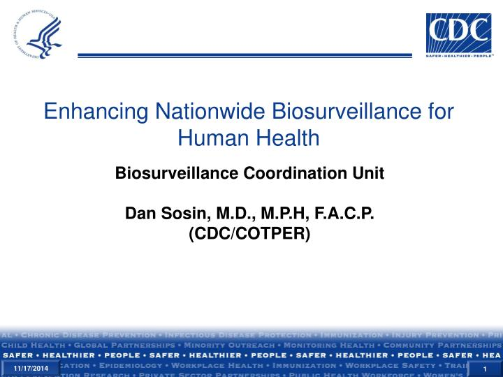 enhancing nationwide biosurveillance for human health n.