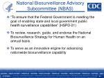 national biosurveillance advisory subcommittee nbas