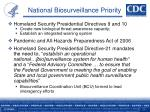 national biosurveillance priority