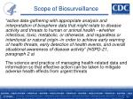 scope of biosurveillance