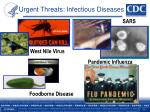 urgent threats infectious diseases
