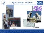 urgent threats terrorism