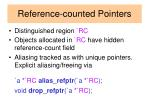 reference counted pointers