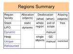 regions summary