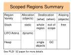 scoped regions summary