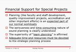financial support for special projects