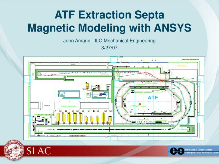 atf extraction septa magnetic modeling with ansys n.