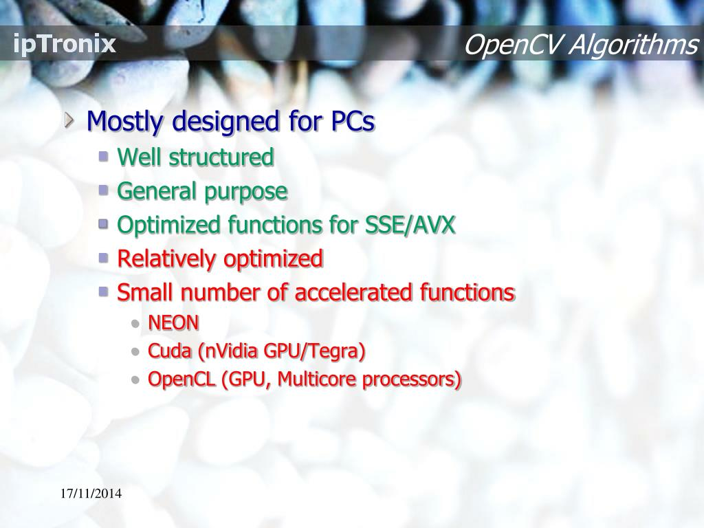 PPT - Embedded OpenCV Acceleration PowerPoint Presentation - ID:6703973