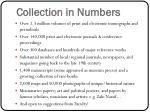 collection in numbers