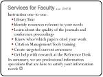 services for faculty 3 of 3