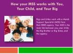 how your mss works with you your child and your big