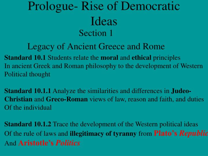 prologue rise of democratic ideas n.