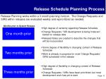 release schedule planning process