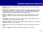 updated deployment approach