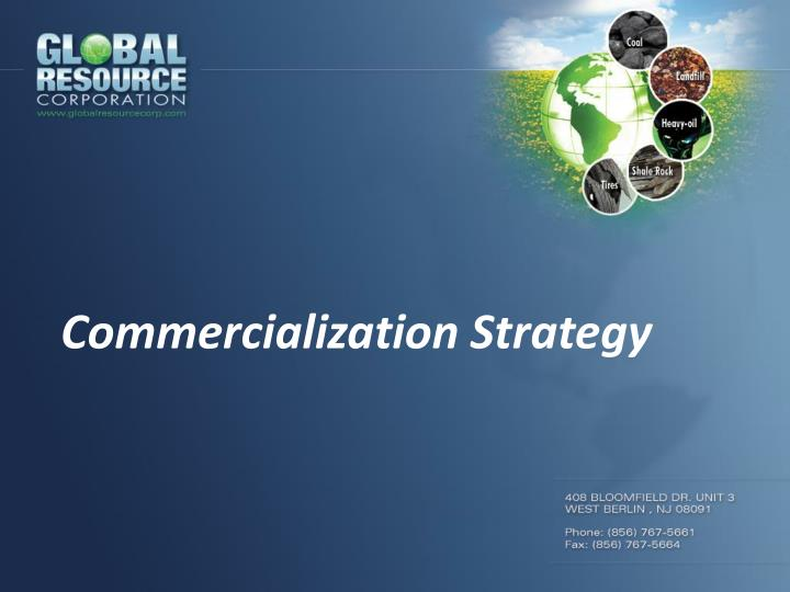 commercialization strategy n.