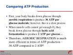 comparing atp production