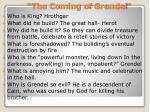 the coming of grendel