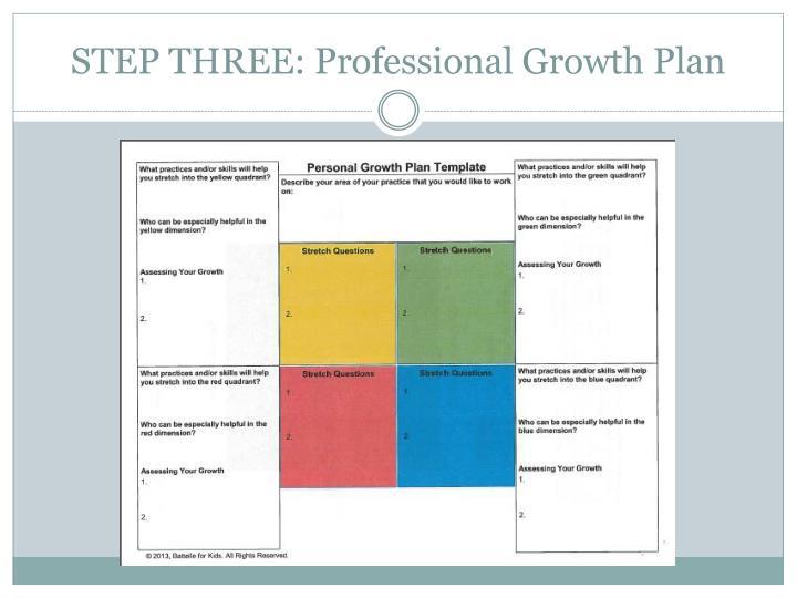 STEP THREE: Professional Growth Plan